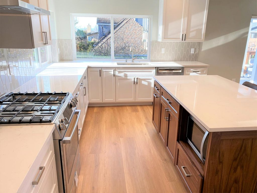 Maple and hickory kitchen cabinets
